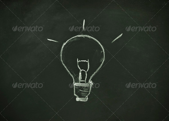 Stock Photo - PhotoDune idea blackboard 791498