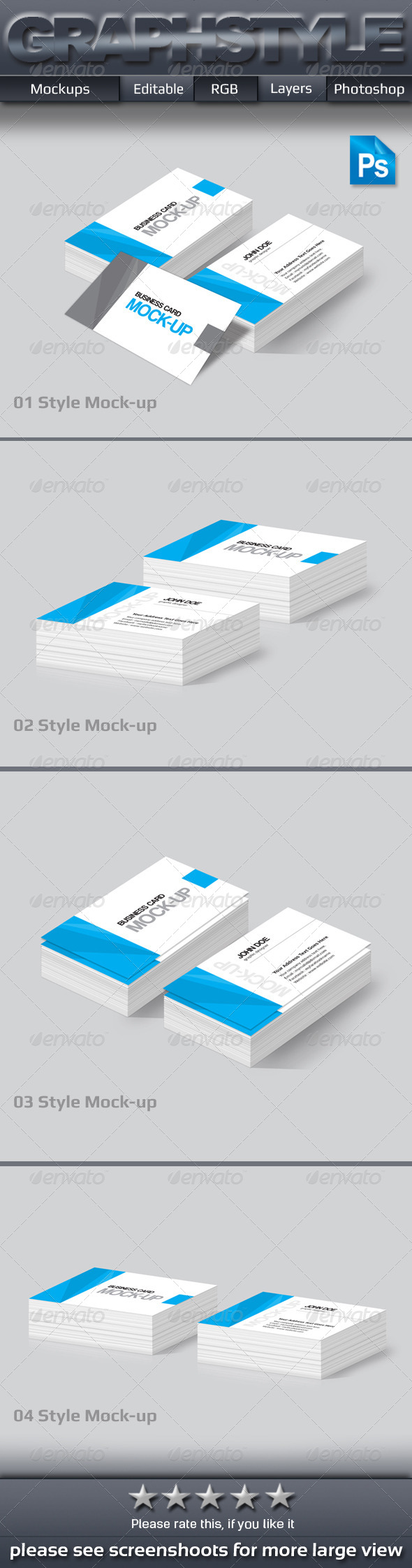 GraphicRiver Business Card Mock-up 7612417