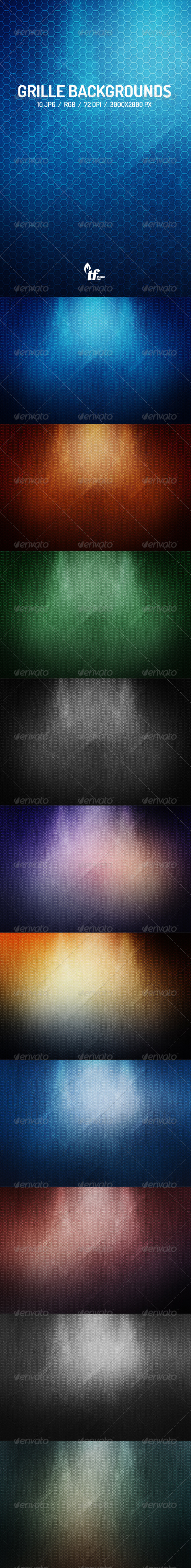 GraphicRiver Grille Backgrounds 7612585