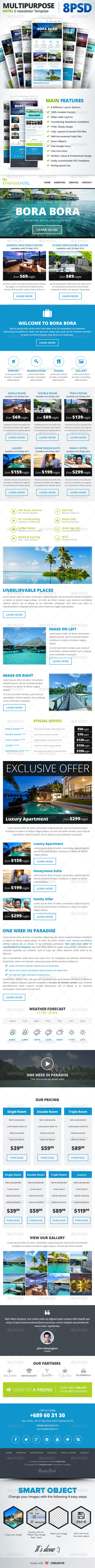 GraphicRiver Multipurpose Hotel E-newsletter E-mail Template 7501556