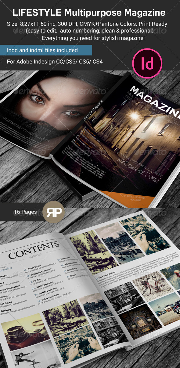 GraphicRiver Lifestyle & Multipurpose Magazine Template 7613174