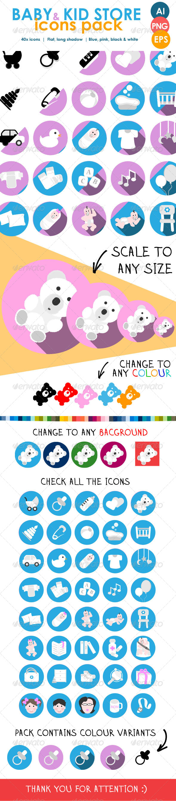 GraphicRiver Children Icons Pack for Ecommerce Store 7613258