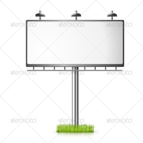 GraphicRiver Billboard Background with Grass 7613443