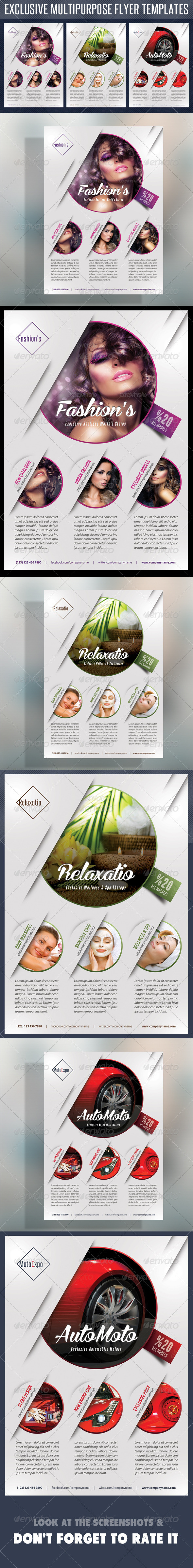 GraphicRiver Multipurpose Product Flyer V02 7613920