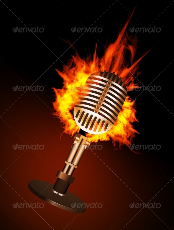 GraphicRiver Microphone in Fire 7614014