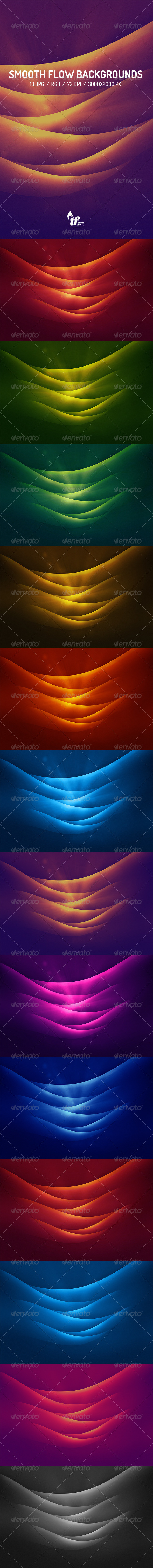 GraphicRiver 13 Smooth Flow Backgrounds 7614241