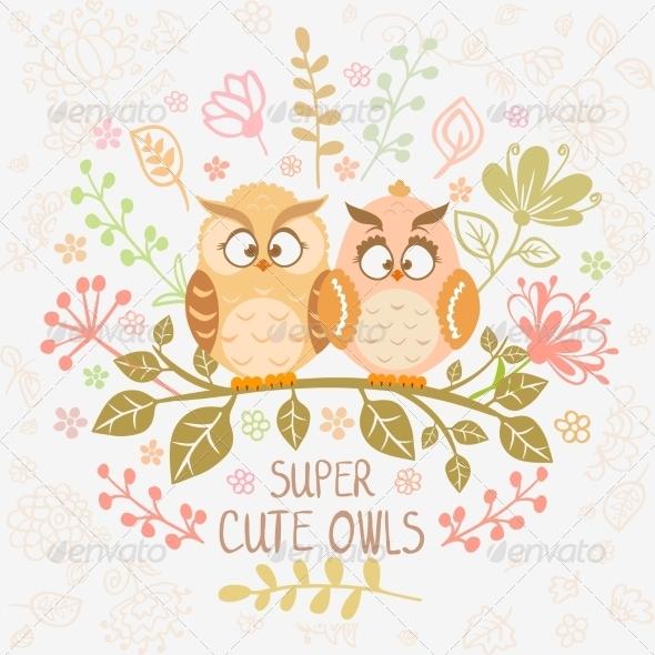 GraphicRiver Owls 7614838