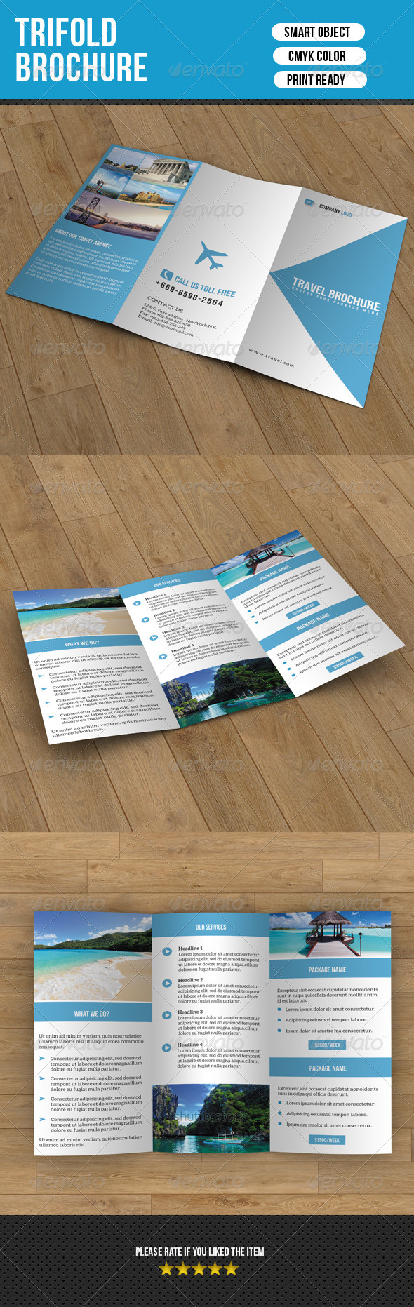 GraphicRiver Trifold Brochure-Travel 7614882