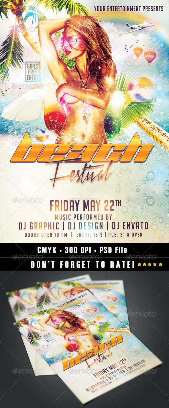 GraphicRiver Beach Festival flyer 7615786