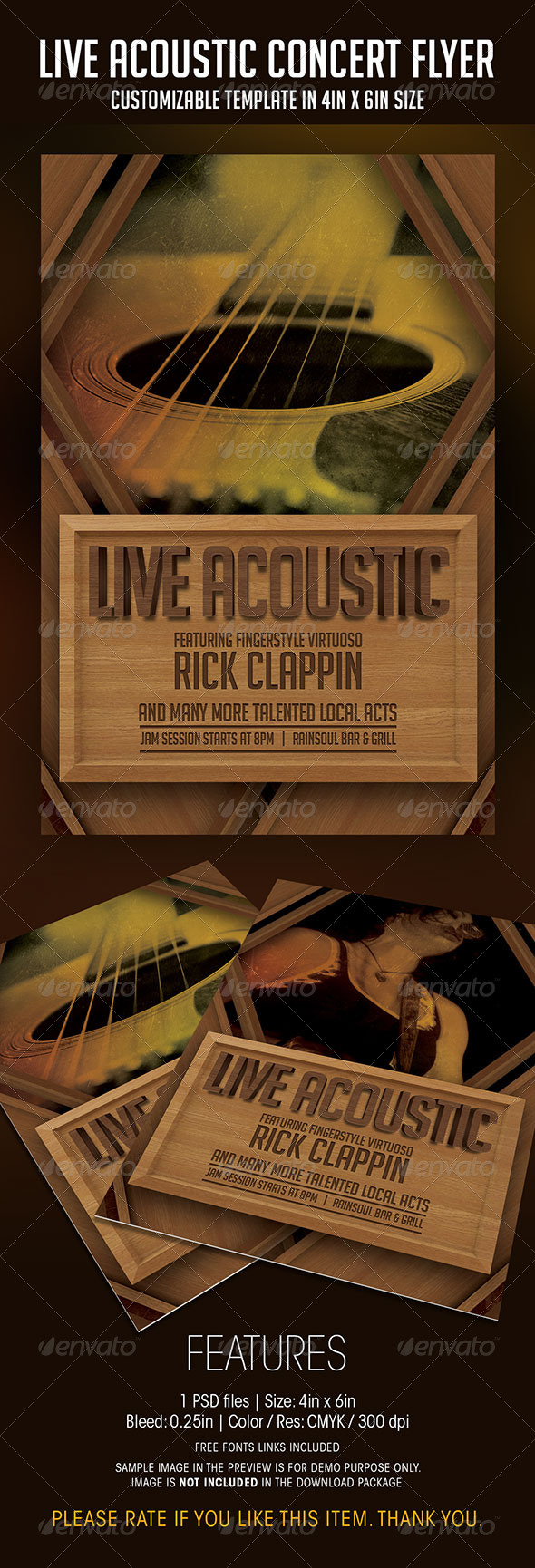 GraphicRiver Live Acoustic Concert Flyer 7615979