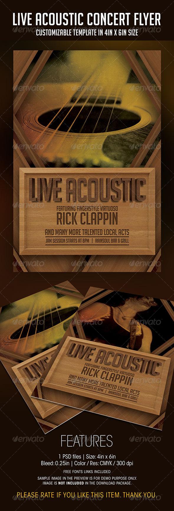 GraphicRiver Live Acoustic Concert Flyer 7615979