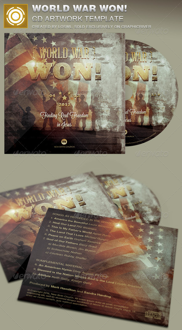 GraphicRiver World War Won CD Artwork Template 7616363