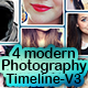 4 modern photography timeline V3 - GraphicRiver Item for Sale