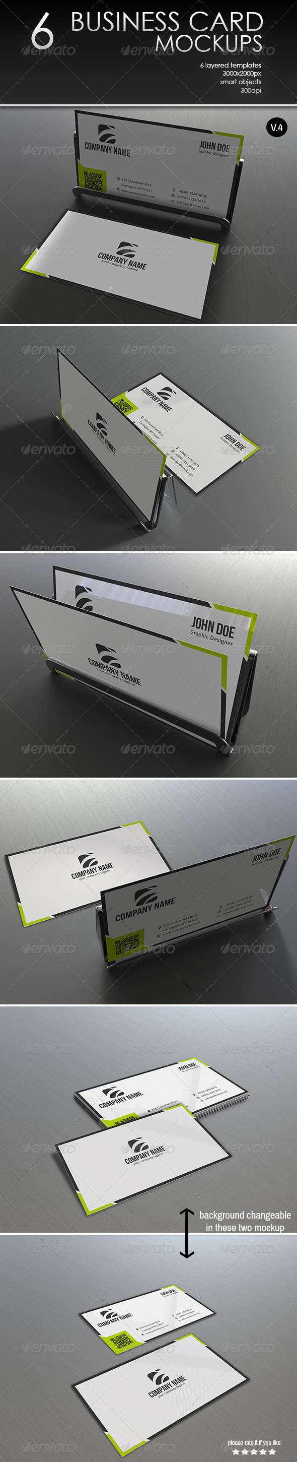 GraphicRiver Business Card MockUp-Vol.4 7617274