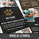 Pet Care Rack Card - GraphicRiver Item for Sale