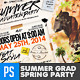 Summer Graduation & Spring Break Party Flyer - GraphicRiver Item for Sale