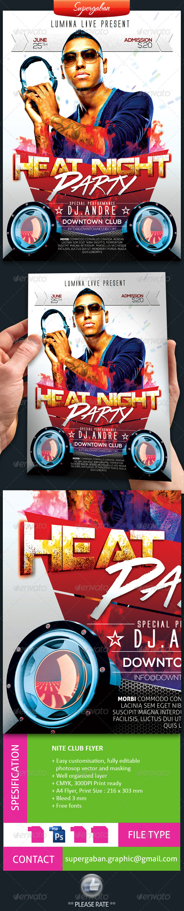 GraphicRiver Nite Club Flyer 7621622