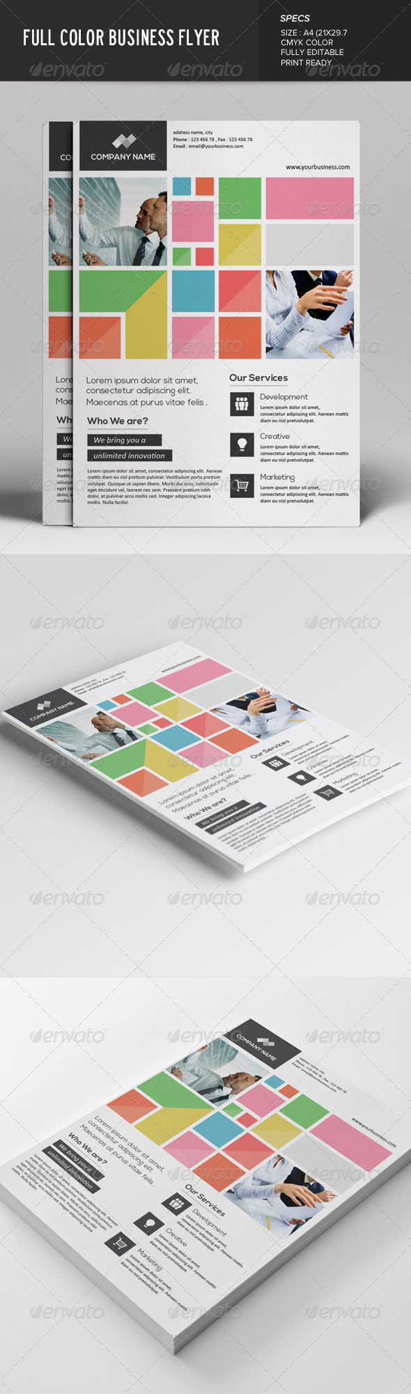 GraphicRiver Full Color Business Flyer 7622106