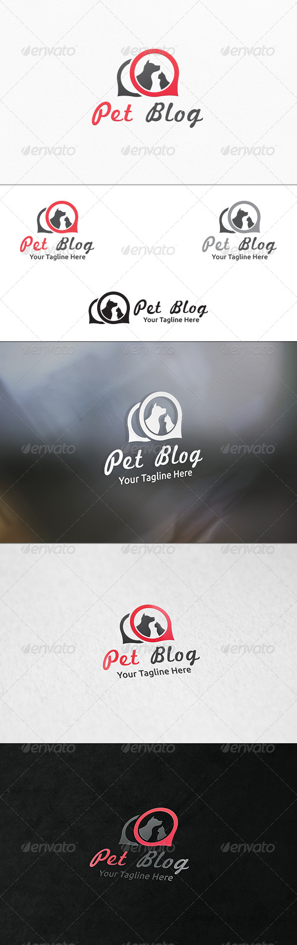 GraphicRiver Pet Blog Logo Template 7622146