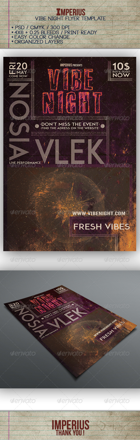 GraphicRiver Vibe Night Flyer 7616044