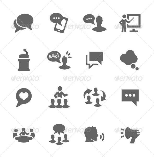 GraphicRiver Communication Icons 7627067