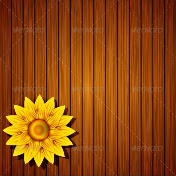 GraphicRiver Flower on Wooden Background 7627223