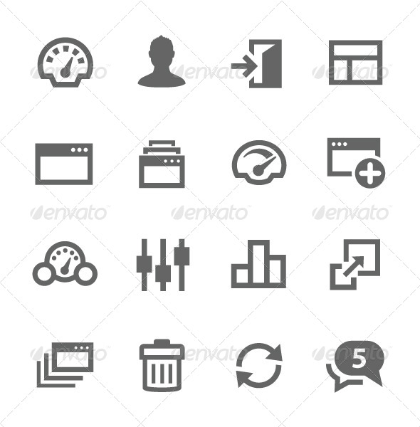GraphicRiver Dashboard Icons Set 7627289