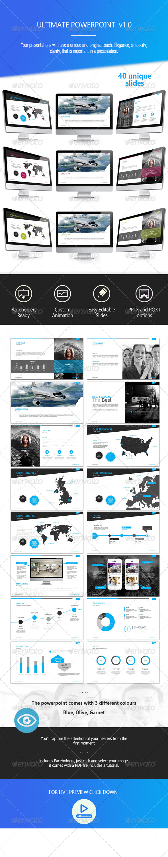 GraphicRiver Ultimate Powerpoint Version 7605954