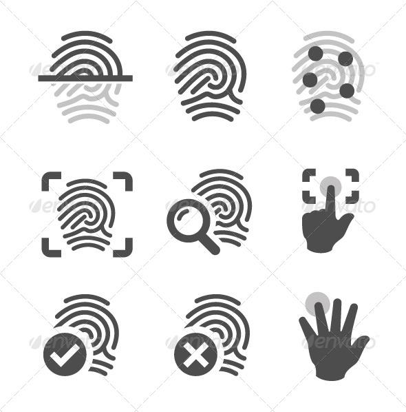 GraphicRiver Fingerprint Icons 7628610
