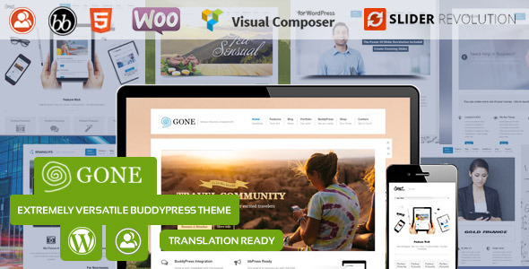 ThemeForest Gone BuddyPress & WordPress Theme 7256836