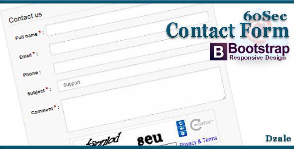 CodeCanyon 60Sec Contact Form 7566386