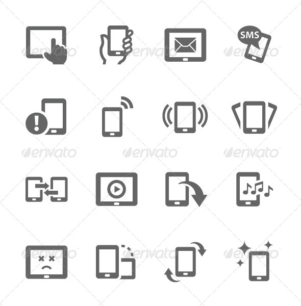 GraphicRiver Mobile Icons 7630678