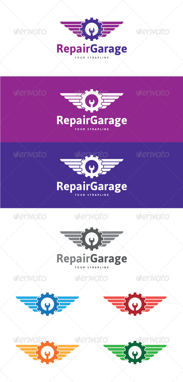 GraphicRiver Repair Garage Logo 7616208