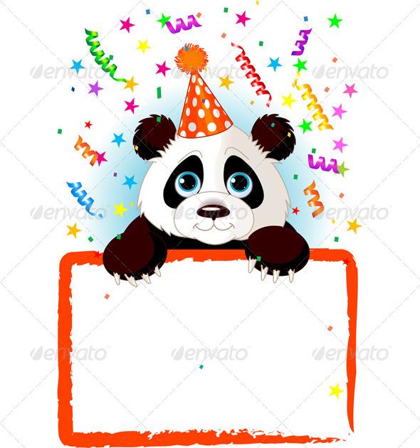 GraphicRiver Baby Panda Birthday 7632171