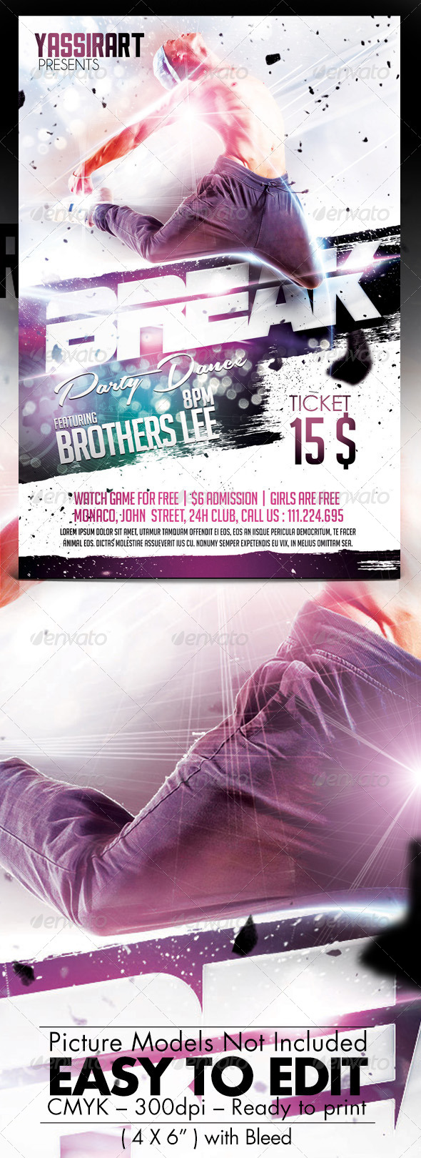 GraphicRiver Break Party Flyer Template 7632473