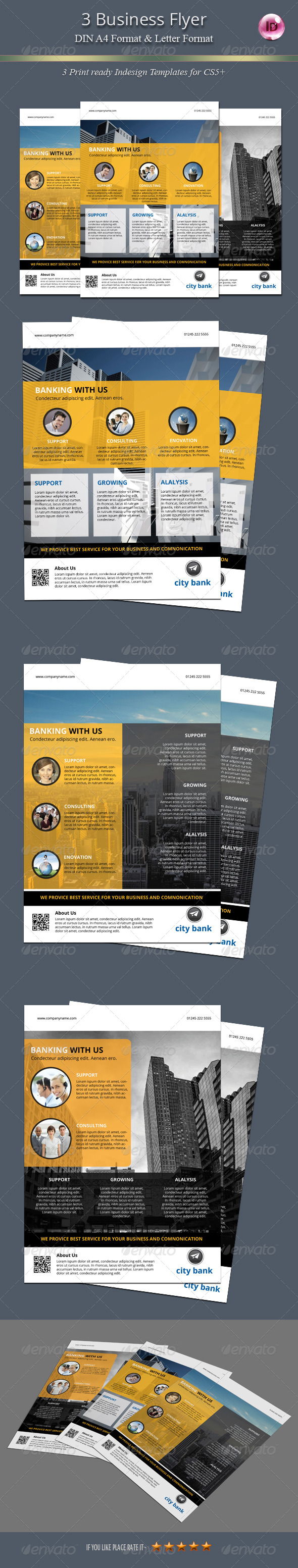 GraphicRiver 3 Business Flyer 7634004