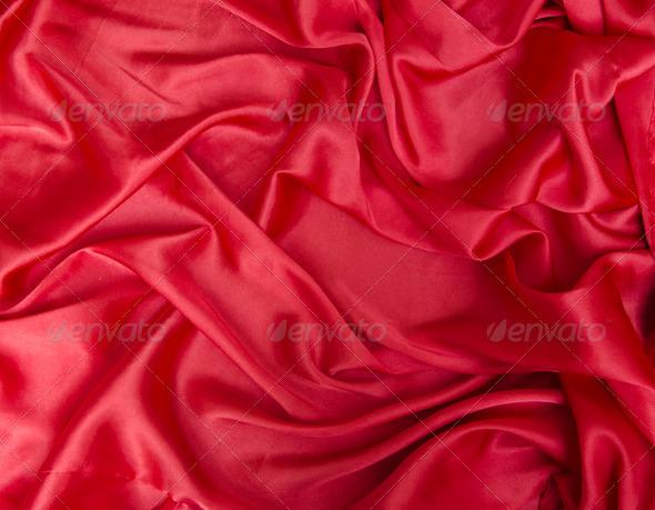 Silk Sheets Texture Red Silk Bed Sheet Crumpled