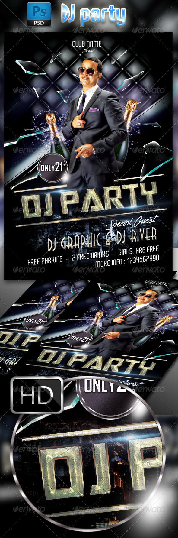 GraphicRiver DJ Party 7634560