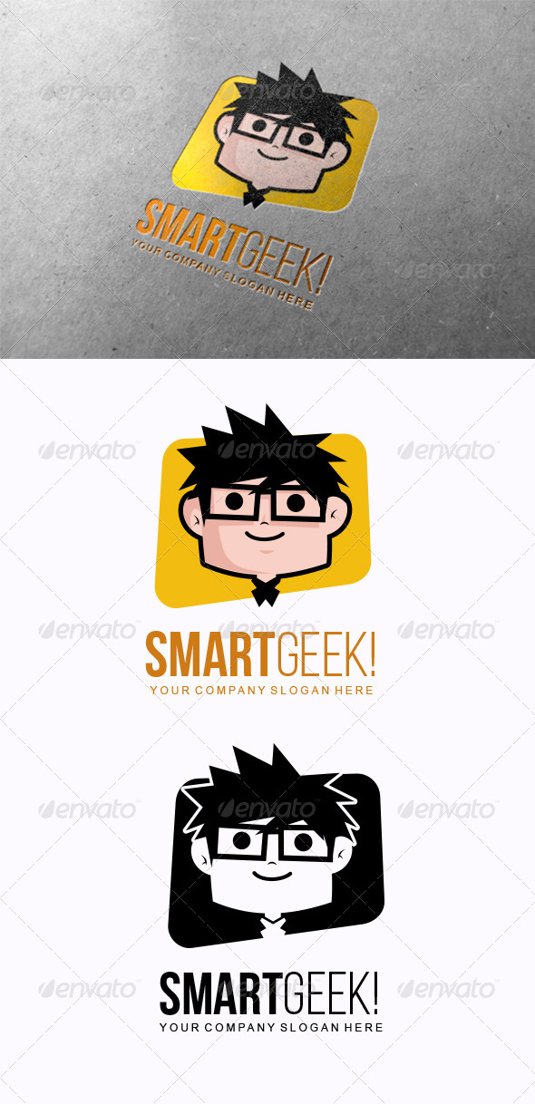 GraphicRiver Smart Geek Logo 7634570