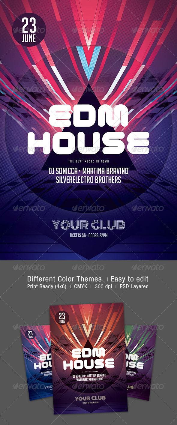 GraphicRiver EDM House Flyer 7635946