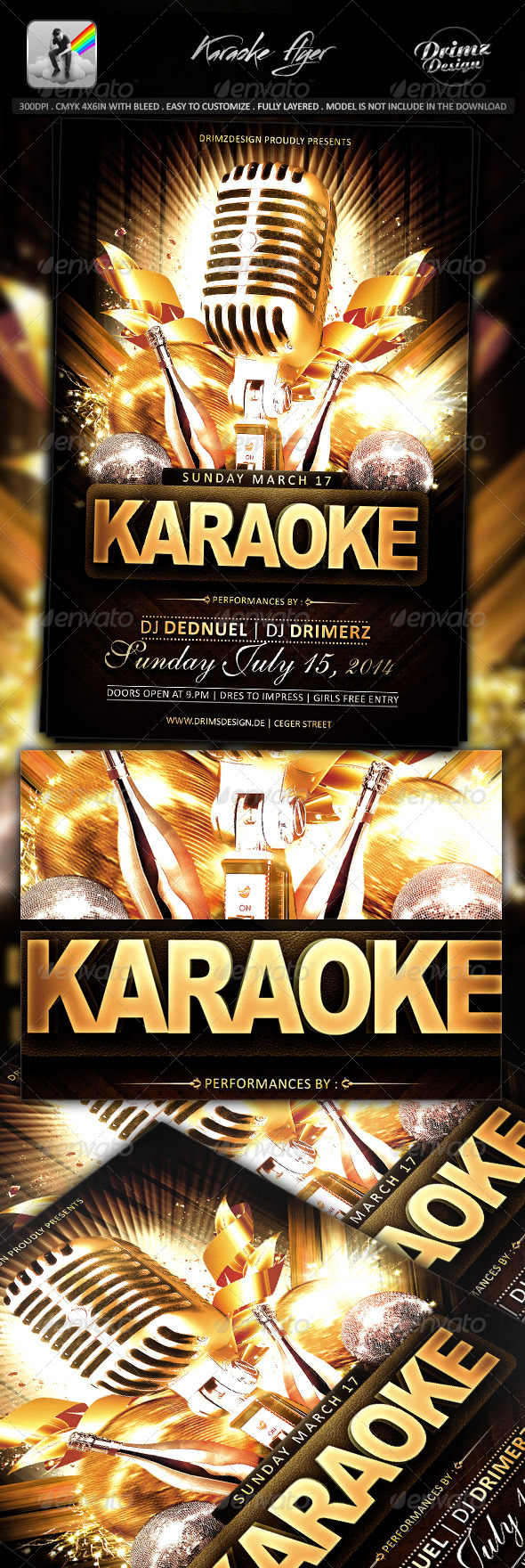 GraphicRiver Karaoke Flyer 7636260