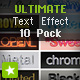 ULTIMATE Text Style Effect 10 Pack - ActiveDen Item for Sale