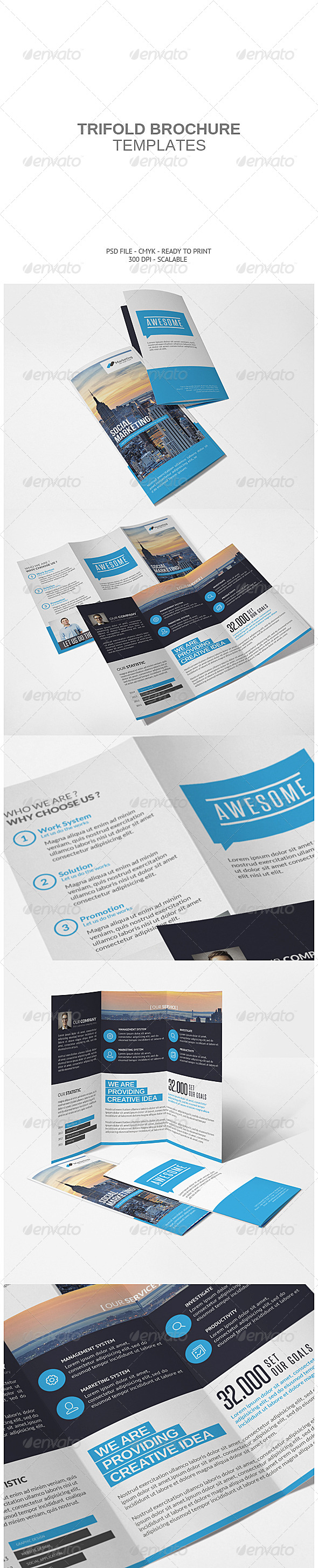 GraphicRiver Corporate Tri-fold Brochure 7637626