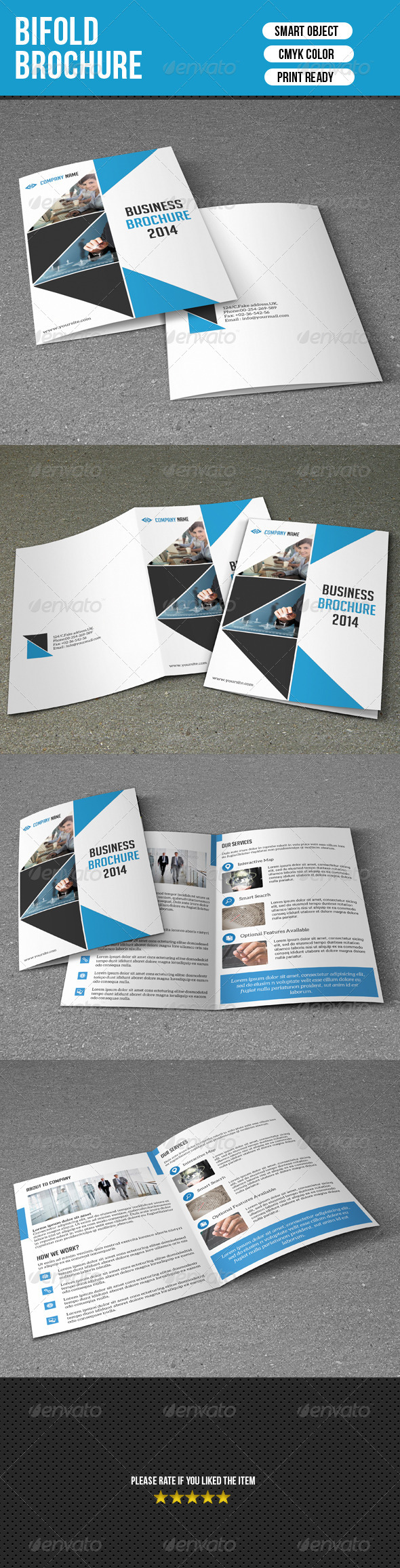 GraphicRiver Bifold Business Brochure 7638707