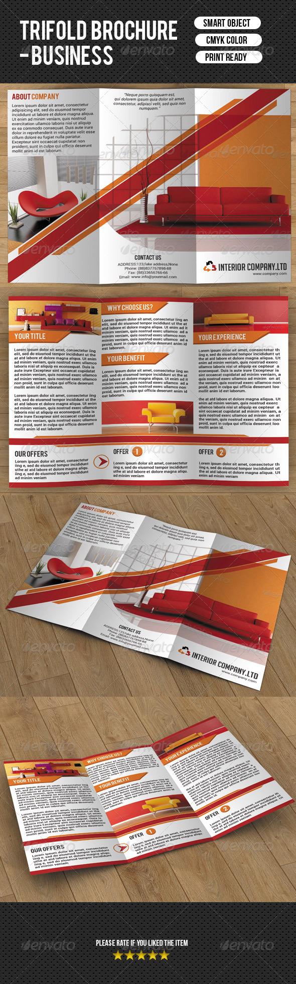 GraphicRiver Trifold Brochure-Interior Design 7638715