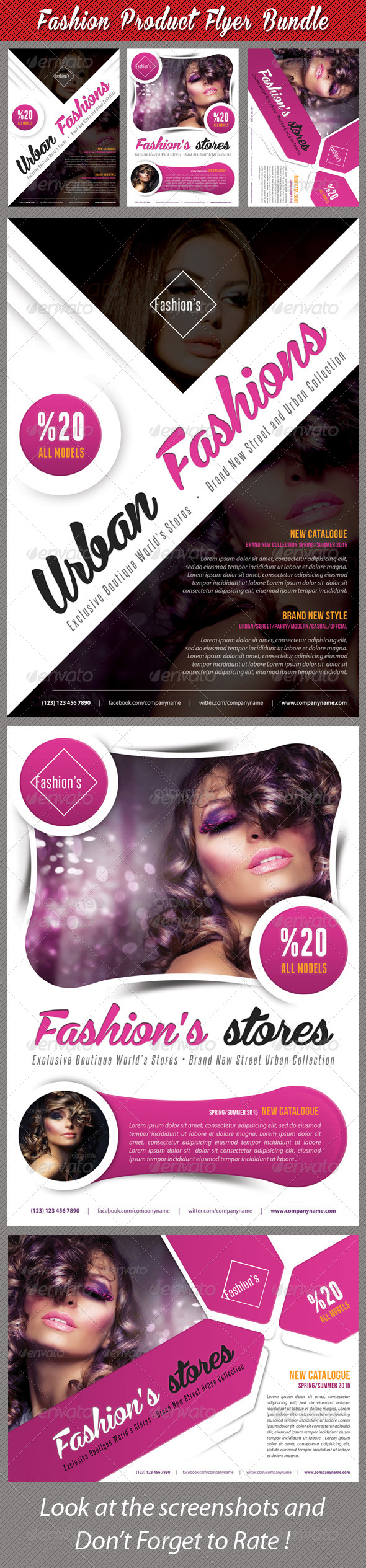 GraphicRiver 3 in 1 Fashion Product Flyer Bundle 19 7638826