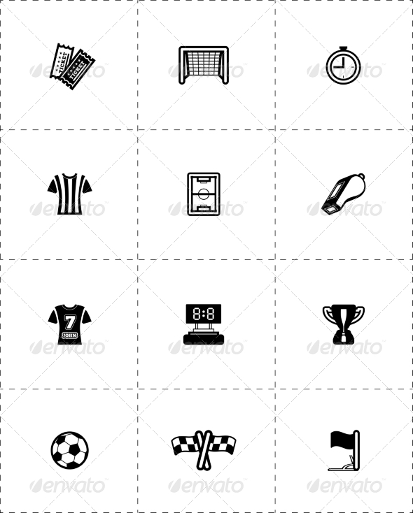GraphicRiver Soccer icon set 7639031