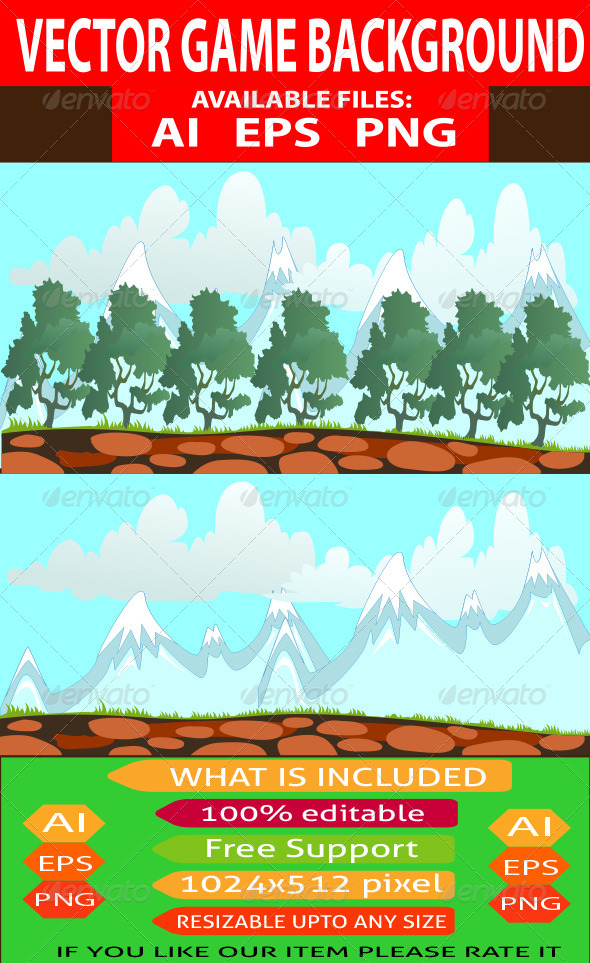 GraphicRiver Vector Game Background 7639234