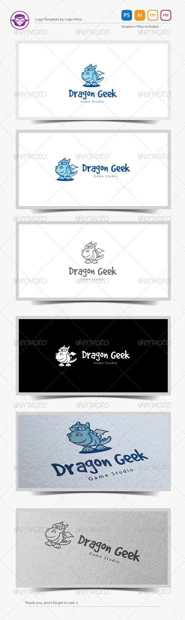 GraphicRiver Dragon Geek Logo Template 7639925