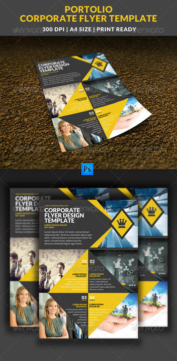 GraphicRiver Portolio Corporate Flyer Template 7640082